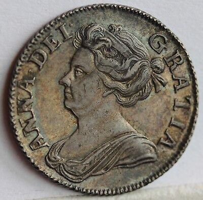 £525 • Buy Queen Anne Shilling, 1708, Third Bust, EF, Lovely Tone With Underlying Lustre