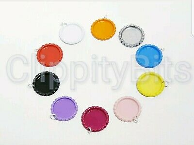 £4.30 • Buy 10 X COLOURED 1  BOTTLE CAPS WITH SPLIT RINGS FLATTENED IMAGES KEYRINGS CRAFTS