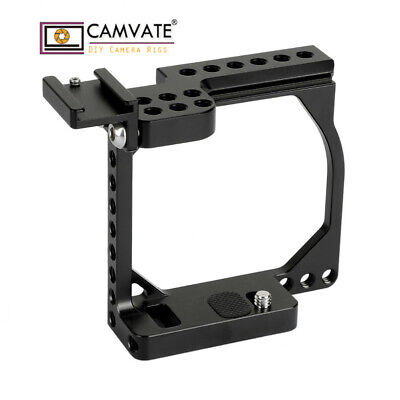 $ CDN65.59 • Buy CAMVATE Camera Cage Rig Shoe Mount For Sony A6000 A6500 Canon EOS M M10 Aluminum
