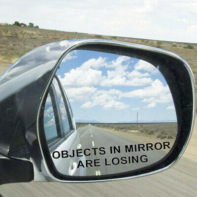 $ CDN1.39 • Buy OBJECTS IN MIRROR ARE LOSING Funny Vinyl Decal Rearview Reflective Sticker