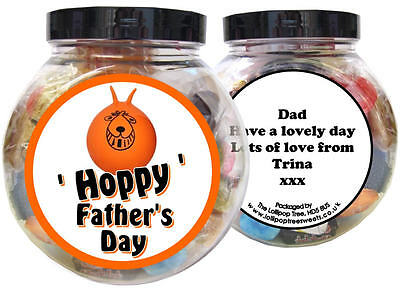 £10 • Buy Space Hopper Personalised Father's Day Present - Gift Jar Of Sweets