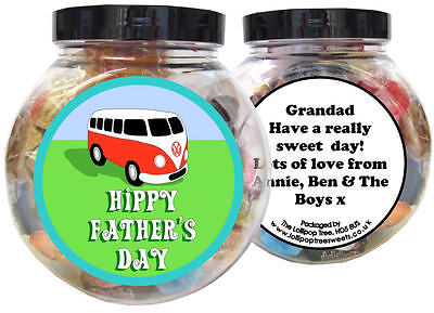 £10 • Buy Camper Van Personalised Father's Day Present - Gift Jar Of Sweets