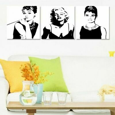$29.43 • Buy Canvas Wall Art Marilyn Monroe Black And White Picture Print Home Decor Framed