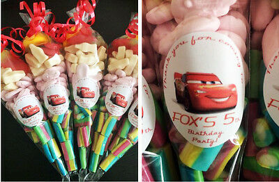 LARGE 12  Filled SweetCones  LION KING • DORA • CARS • TOY STORY • POKEMON Party • 1.25£