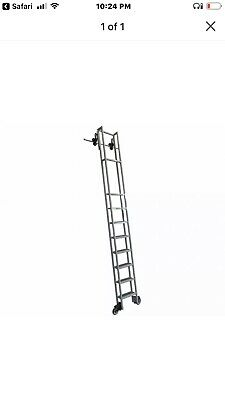 $275 • Buy Cotterman Rolling Steel Library Ladder, Durable Library Step Ladder