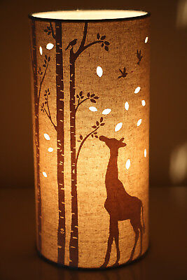£24 • Buy Beautiful  Cream Linen Table/Bedside Light With AChoice Of 10 Different Designs