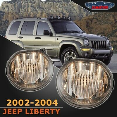 $48.79 • Buy Fit Jeep Liberty 02-04 Clear Lens Pair Bumper Fog Light Lamp OE Replacement DOT