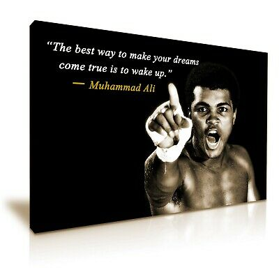 £30.99 • Buy Muhammad Ali Boxing Sports Quote Canvas Wall Art Picture Print 76cmx50cm