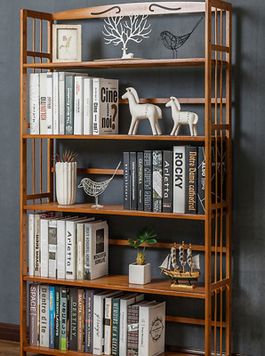 AU48 • Buy Bamboo Furniture Bookshelf Simple Thin Design With HUGE Payload S3