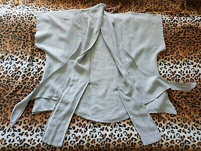 LABASS Quirky Grey Linen Boho Boxy Lagenlook Tunic Size 1 • 25£