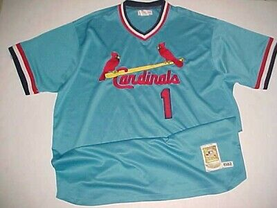 factory authentic e6bb5 4c5a6 1982 St. Louis Cardinals Ozzie Smith  1 MLB NL Cooperstown Blue Red Jersey  3XL