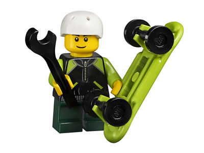 LEGO Boy With Skateboard Minifigure NEW + Collector Card City Town 45022 RARE • 3.99£