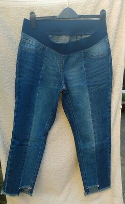 £9.99 • Buy Next Maternity Under The Bump Slim Slouch Jeans  Blue Size 12 Reg BNWT RRP £32