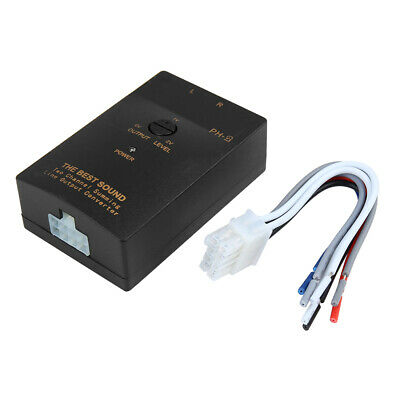 Car Speaker Wire High To Low Line Input To RCA Output Line Converter Adaptor • 11.21£