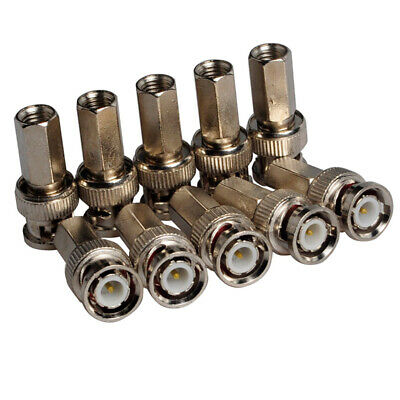 $ CDN15.98 • Buy 20pcs BNC Cable Joint Twisted Male For RG59 Coaxial Cable CCTV Connector