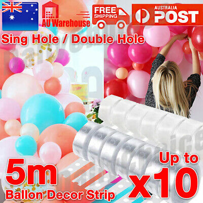 AU4.25 • Buy 5M Balloon Decorating String DIY Balloon Arch Strip Tape Cake Gift Table Decor