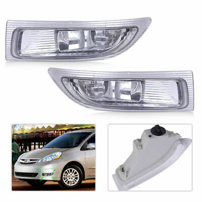 $55.99 • Buy Fits TOYOTA SIENNA 2004 2005 Front Fog Lamp Pair Driving Light Durable Portable
