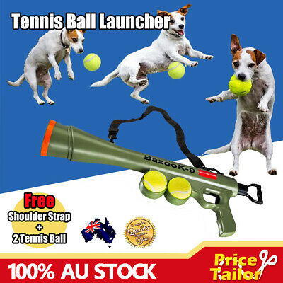 AU21.95 • Buy AU Dog Tennis Ball Gun Launcher Squeaky Balls Pet Play Fetch Throw Outdoor Toy