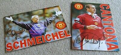 Eric Cantona & Peter Schmeichel Manchester United Used Birthday Cards • 4.99£