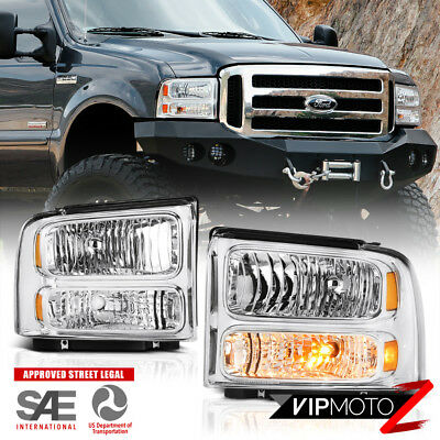 AU116.54 • Buy For 05-07 Ford F250 F350 F450 SuperDuty SD Chrome Front Headlights Assembly Pair