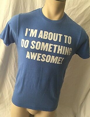 Baby Blue Urban Pipeline T-Shirt Small  I'm About To Do Something Awesome  Men's • 9.21£