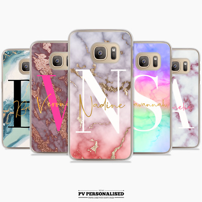 $ CDN10.38 • Buy Personalised Big Initials Phone Case Cover Marble For Samsung Galaxy S7 S8 S10
