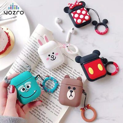 AU8.95 • Buy For Apple Airpods Pro / 1 &2 Disney Silicon Slim Skin Charging Case Rubber Cover