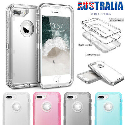 AU9.79 • Buy IPhone XR 6 7 8 Plus SE Shockproof Armor Rubber Protective Heavy Duty Case Cover