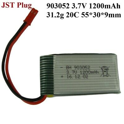 AU15.13 • Buy 903052 3.7V 1200mAh 20C JST Plug Battery For RC Drone Helicopter Toys Warranty