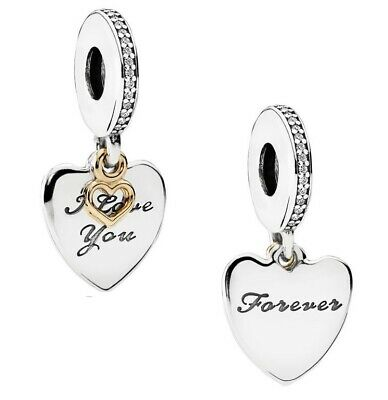 70%OFF Genuine PANDORA I Love You FOREVER Pendant Charm Silver S925 ALE 792042CZ • 15.99£
