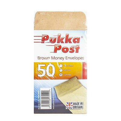 £2.40 • Buy 50X Small Brown Self Seal Lunch Dinner Petty Cash Money Envelopes Beads, Coins