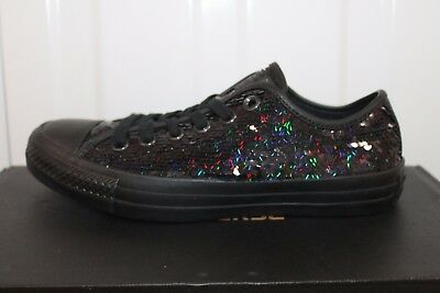 £55 • Buy Women's Converse Ct All Star Glittery Sequin Black Trainers
