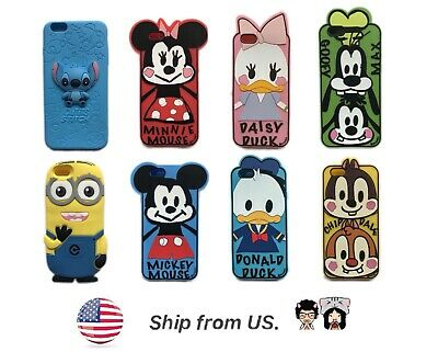 AU11.57 • Buy Disney Silicone Case Cove For IPhone 8 7 6S 6 W/ Tempered Glass Screen Protector