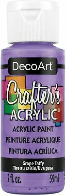 Deco Art DCA-122 Crafter's Acrylic All-Purpose Paint 2oz-Grape Taffy (6Pk) • 8.86£