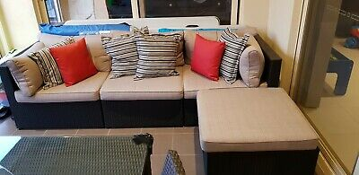 AU900 • Buy 4Pc Wicker Furniture Outdoor Sofa Lounge Couch Setting (Always Kept Indoors!)