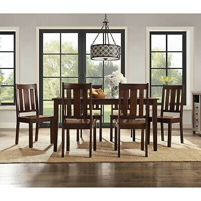 Dining Room Table Set Wooden Kitchen Tables And Chairs Sets Contemporary 7 Piece • 444.44$