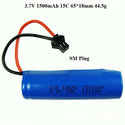 AU14.80 • Buy 1500mAh 3.7V SM Plug 15C Battery For RC Helicopter Drone Toys Warranty