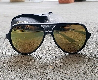 fd71919146b6c Authentic Ray Ban Cats 5000 Sunglasses Black Frames Mirrored Perfect •  69.99