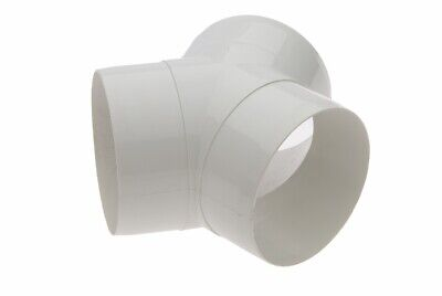 4  / 100mm EQUAL Y ROUND PIPE SPLITTER VENTILATION RIGID DUCTING ADAPTER WHITE  • 6.95£