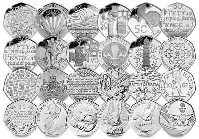 50p Coin Various Fifty Pence Kew Gardens Tokyo Olympic Team GB NHS WWF EEC • 2.49£