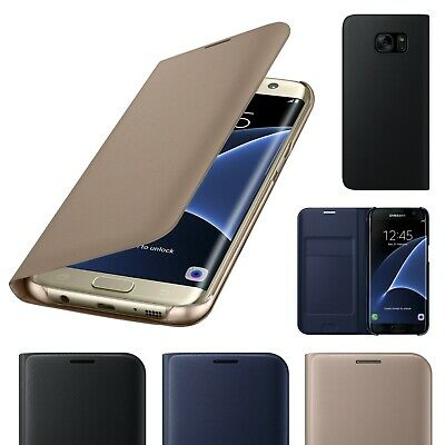 $ CDN4.89 • Buy For Samsung Galaxy S7edge Luxury Genuine Real Slim Leather Flip Walet Case Cover