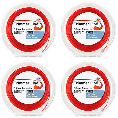 Round Strimmer Line 3mm X 240m For Heavy Duty Petrol Trimmer Brush Cutter • 42.29£