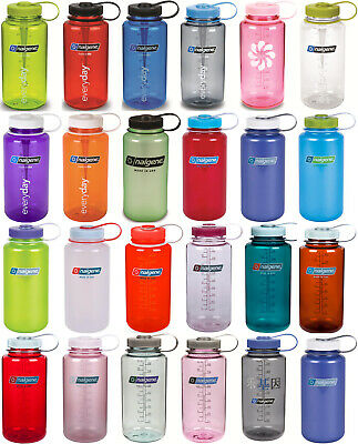 AU25.95 • Buy Nalgene Wide Mouth Water Bottle 1 Litre BPA Free ALL COLOURS