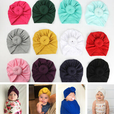 New Baby Headbands Turban Knotted Girl's Hair Bands For Newborn Children Cotton • 5.06£