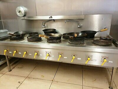 Commercial Gas Cooker Work Table Chinese Indian 9 Burner Ring Style Burner  • 3,000£