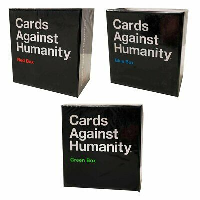 AU99 • Buy Cards Against Humanity - Blue Red Green Expansion Boxes (Set Of 3)