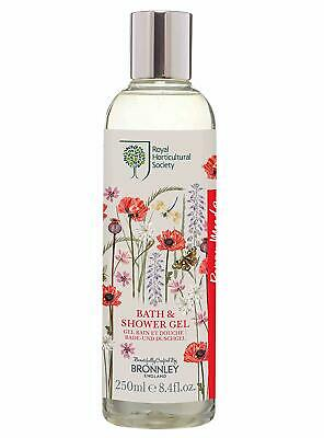 £6.95 • Buy Bronnley & Co Royal Horticultural Society Poppy Meadow Bath And Shower Gel 250ml
