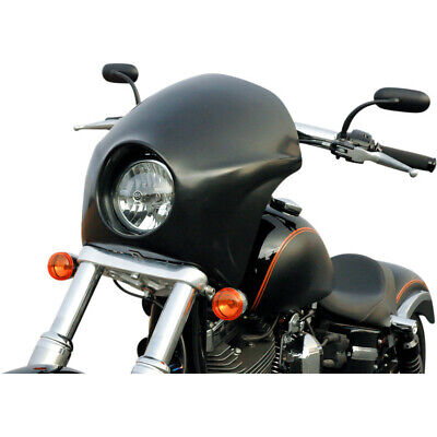 AU377.24 • Buy Russ Wernimont RWD Black Cafe Short-Style Fairing ABS Harley Dyna FXD 06-17