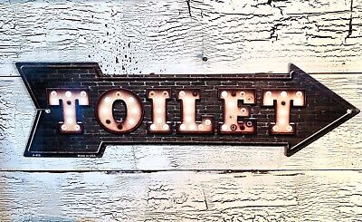 TOILET This Way To Arrow Sign Directional Novelty Metal 17  X 5  • 11.99$