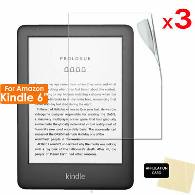£2.49 • Buy 3x CLEAR LCD Screen Protector Covers For Amazon Kindle 10th / 9th Gen 6  EReader